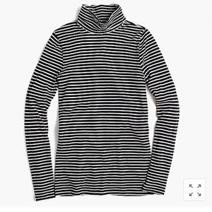 JCREW TISSUE TURTLENECK in STRIPES